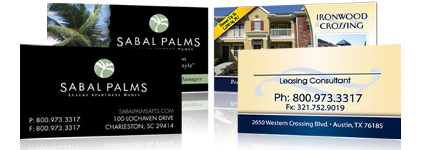 Apartment business cards impress future residents sorry our graphic artists refuse to create anything other than smart stylish and functional business cards that make just the right impression reheart Images
