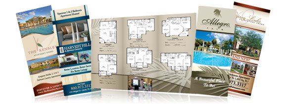 apartment brochure design. Let Your Custom-designed, Professional Brochure Speak For Property Long After The Prospect Has Completed Tour! Apartment Design