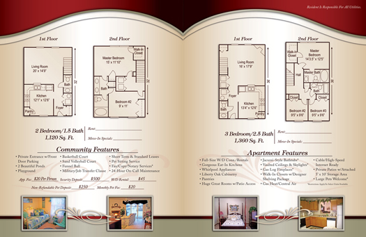 apartment brochure samples