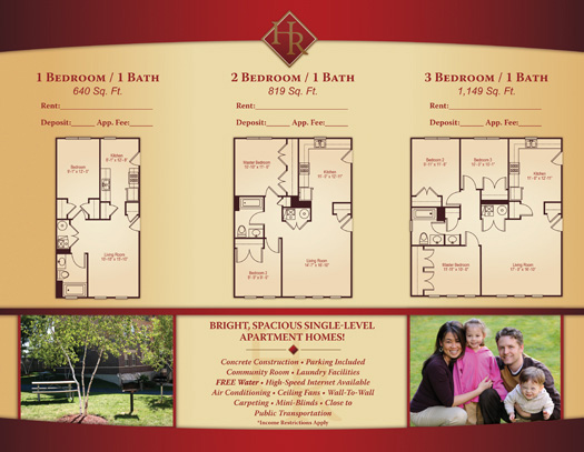 Apartment TriFold Brochure Samples