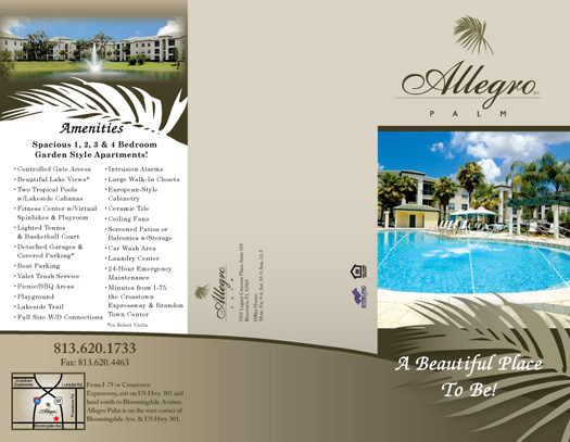 Apartment Tri-Fold Brochure Samples